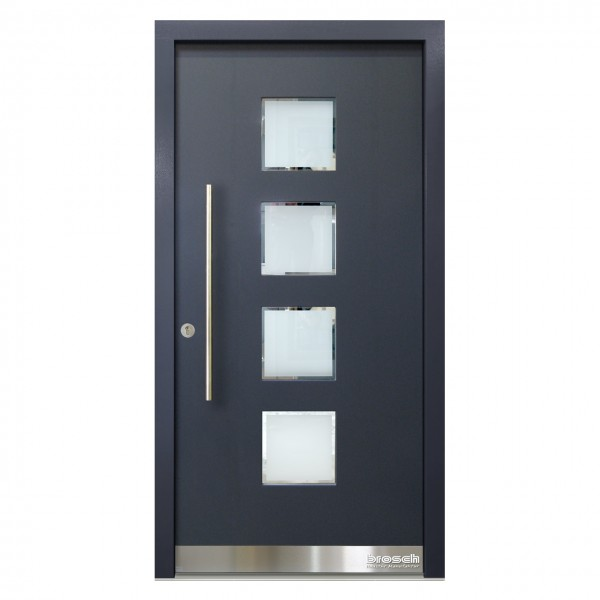 moderne Haustür aus Holz Maton 9 Ral-Farbe
