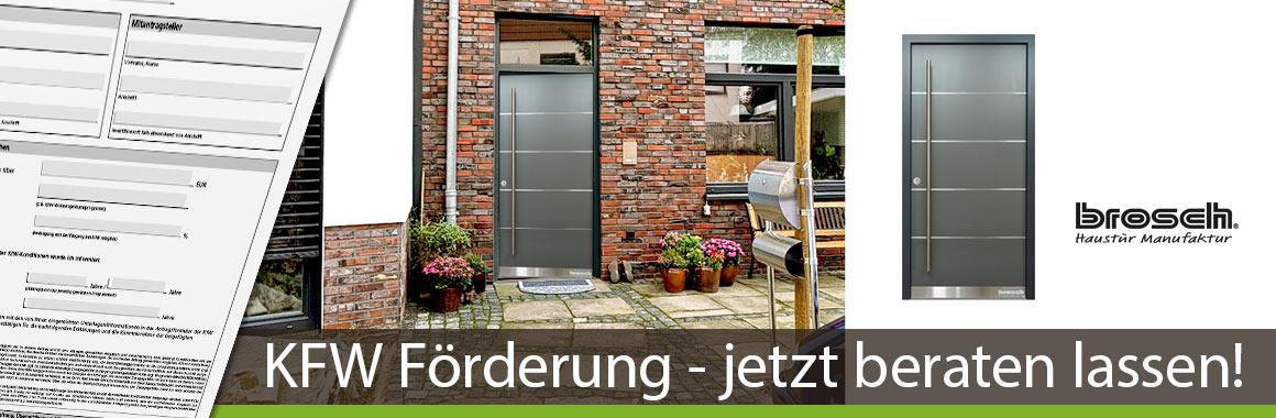 KFW Förderung Haustüren aus Holz