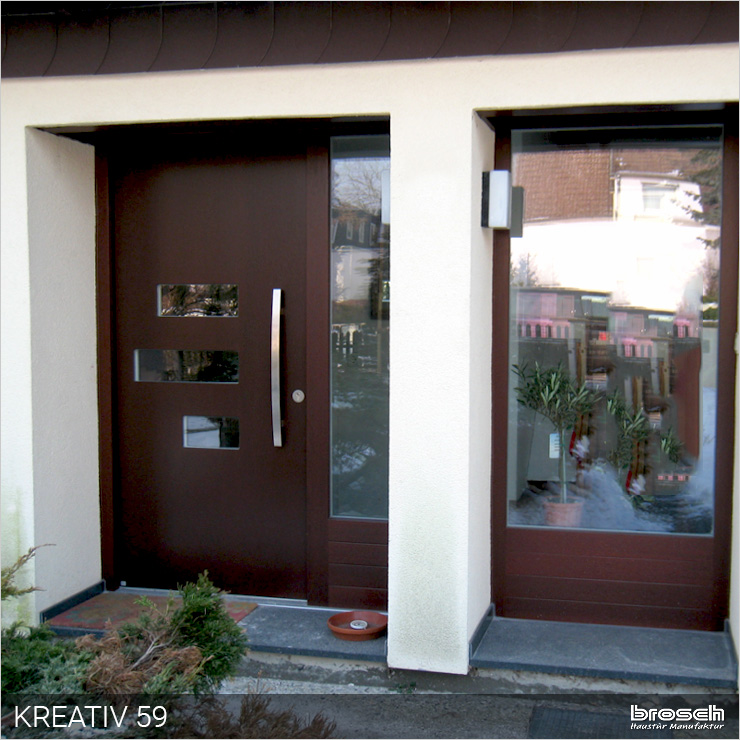 Eingang Tür Kreativ Holz modern